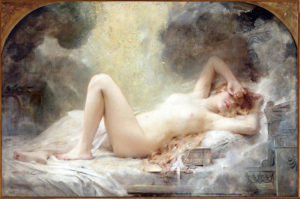 Danaë_and_the_Shower_of_Gold_-_Léon-François_Comerre
